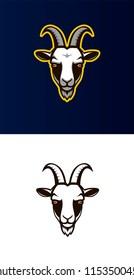 Goat head vector mascot