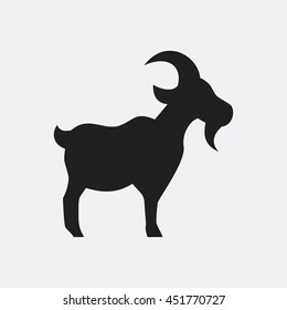 Goat icon illustration isolated vector sign symbol