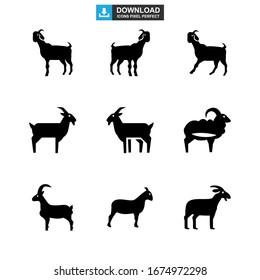 goat icon or logo isolated sign symbol vector illustration - Collection of high quality black style vector icons