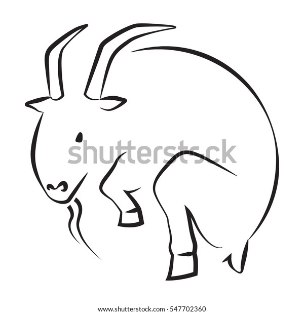Goat Icon Signs Symbol Circle Shape Stock Vector (Royalty