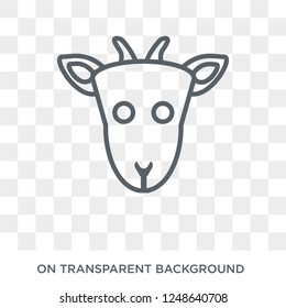 Goat icon. Trendy flat vector Goat icon on transparent background from animals collection. High quality filled Goat symbol use for web and mobile