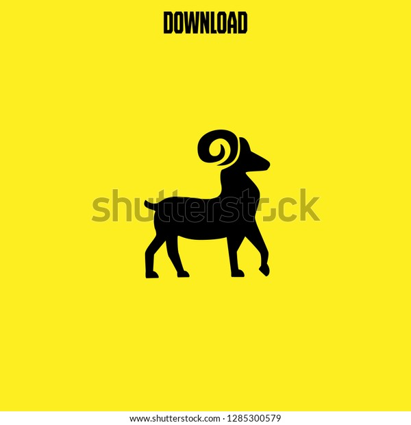 Goat Icon Vector Goat Vector Graphic Stock Vector (Royalty