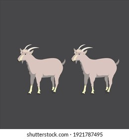 goat illustration vector set art