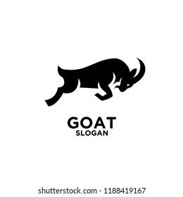 goat logo icon design vector