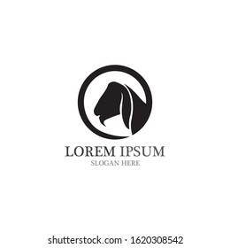 Goat Logo Template vector icon illustration design