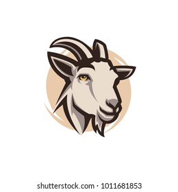 Goat modern logo illustration