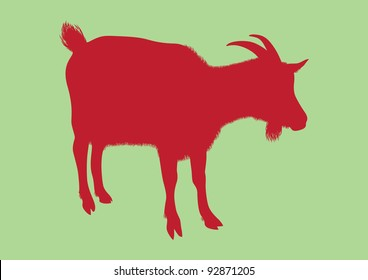 Goat silhouette vector