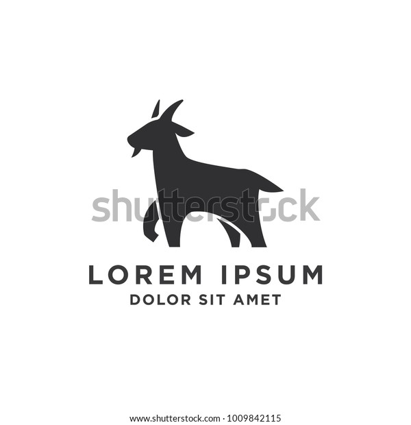 Goat Simple Logo Template Design Stock Vector (Royalty Free