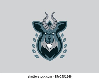 Goat sport logo mascot. Goat, Lamb, Ram, Sheep Esport gaming mascot logo template.