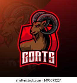 Goat sport mascot logo design