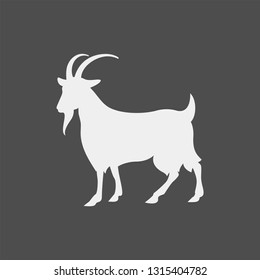 Goat vector silhouette. Farm animal vector silhouette