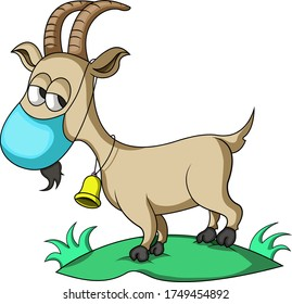 goats wear masks when they  want to sacrifice