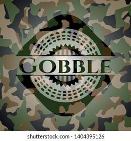 Gobble camouflaged emblem. Vector Illustration. Detailed.