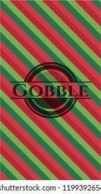 Gobble christmas colors style badge.