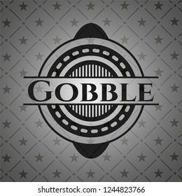 Gobble dark emblem. Retro