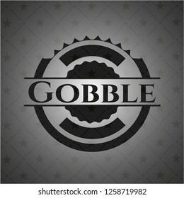 Gobble dark icon or emblem