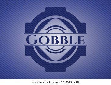 Gobble denim background. Vector Illustration. Detailed.