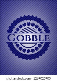 Gobble with denim texture