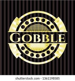 Gobble gold badge or emblem