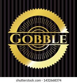 Gobble golden badge. Vector Illustration. Detailed.