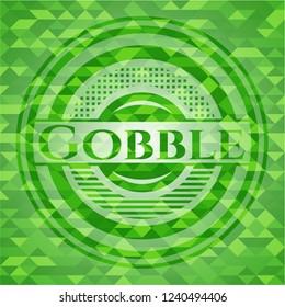 Gobble green mosaic emblem