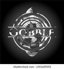 Gobble grey camo emblem