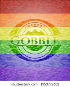 Gobble lgbt colors emblem