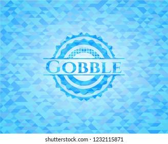 Gobble light blue mosaic emblem