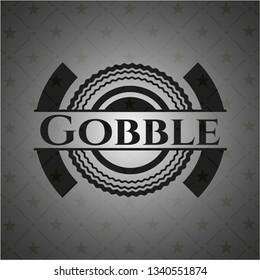 Gobble realistic black emblem
