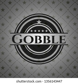 Gobble retro style black emblem