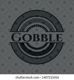 Gobble retro style black emblem. Vector Illustration. Detailed.