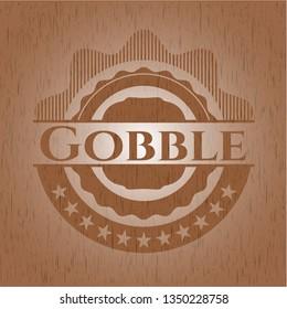 Gobble retro style wooden emblem