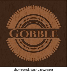 Gobble retro wood emblem. Vector Illustration.