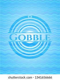 Gobble water wave badge.