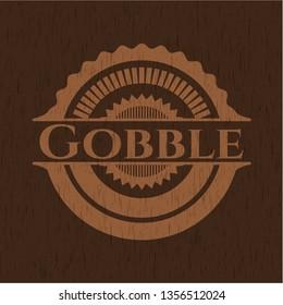 Gobble wooden emblem. Vintage.