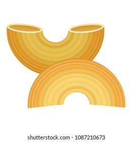 Gobetti rigati pasta icon. Realistic illustration of gobetti rigati pasta vector icon for web design isolated on white background