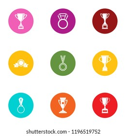 Goblet icons set. Flat set of 9 goblet vector icons for web isolated on white background