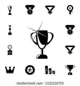 goblet with shine icon. Detailed set of Sucsess and awards icons. Premium quality graphic design sign. One of the collection icons for websites, web design, mobile app on white background