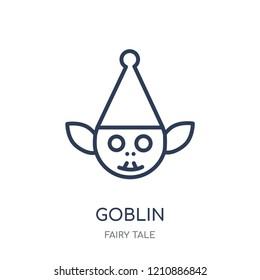 Goblin icon. Goblin linear symbol design from Fairy tale collection. Simple outline element vector illustration on white background.