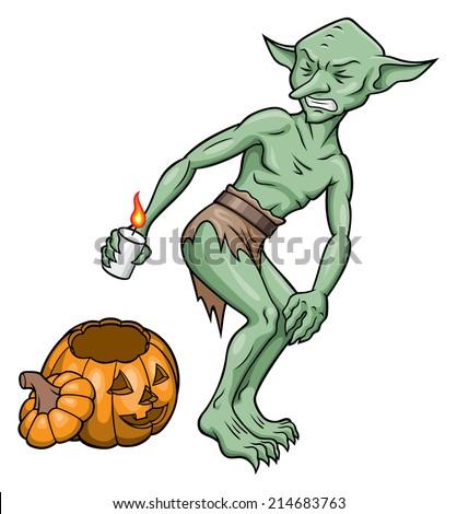 Goblin Lighting Fart Stock Vector (Royalty Free) 214683763 ...
