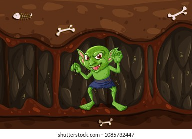 Goblin in the Mystery Cave illustration