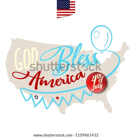 God bless america greeting card design stock vector royalty free god bless america greeting card design with amrica map on background vector eps10 m4hsunfo