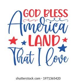 God Bless America Land That I Love