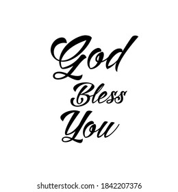 God bless you - Christian texts or phrases for sweater designs - Short phrase for stamping and printing