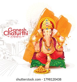 God Ganesha Illustration for Happy Ganesh Chaturthi