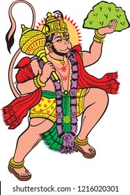 God hanuman with white background
