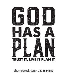 God has a plan t shirt design christian t shirt design vector