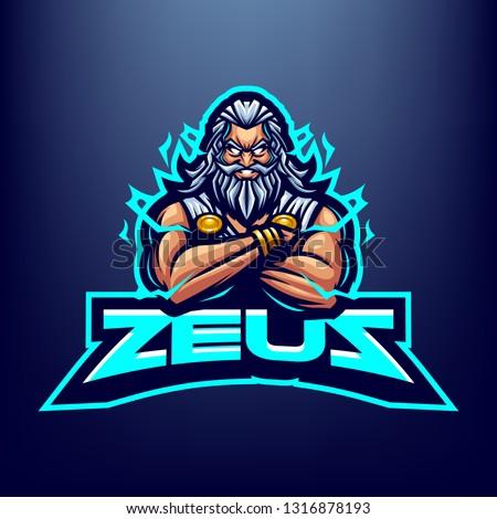 God Zeus Mascot Logo