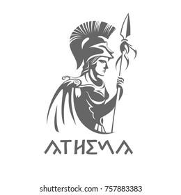 goddess athena logo vector