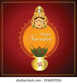 Goddess durga in happy navratri celebration